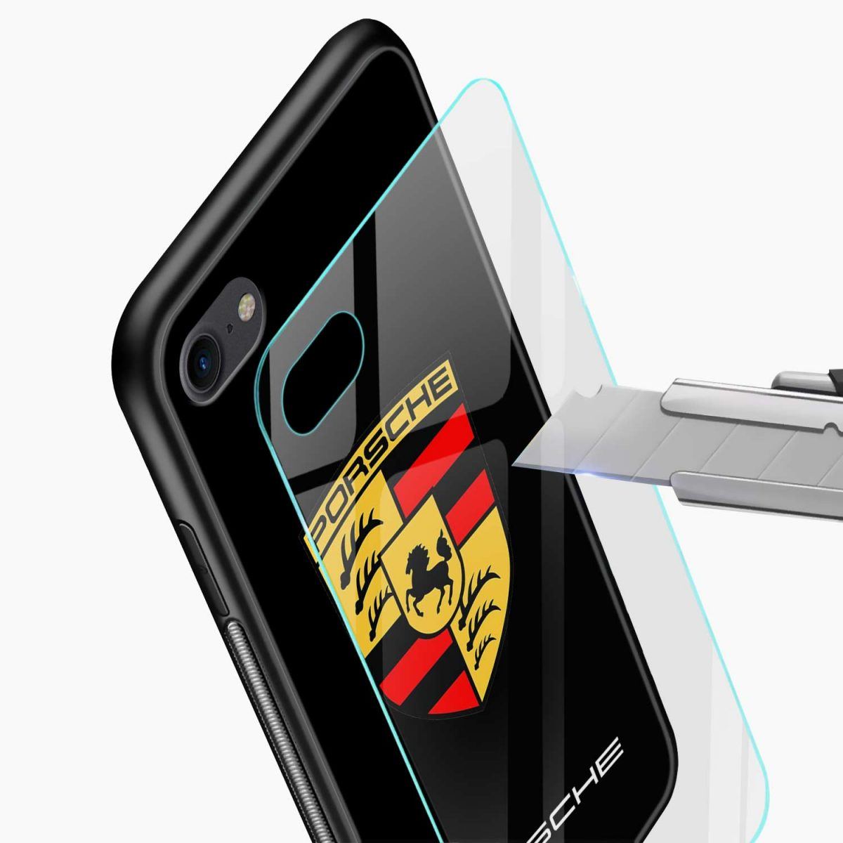 prosche glass view apple iphone 6 7 8 se back cover