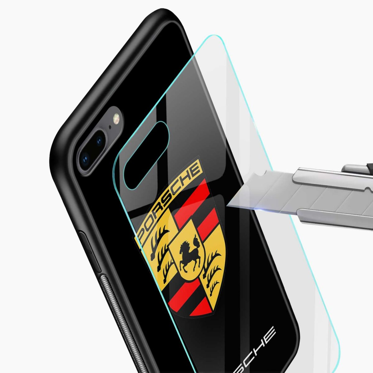 prosche glass view apple iphone 7 8 plus back cover