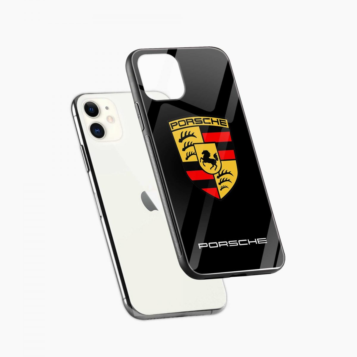 prosche iphone back cover diagonal view