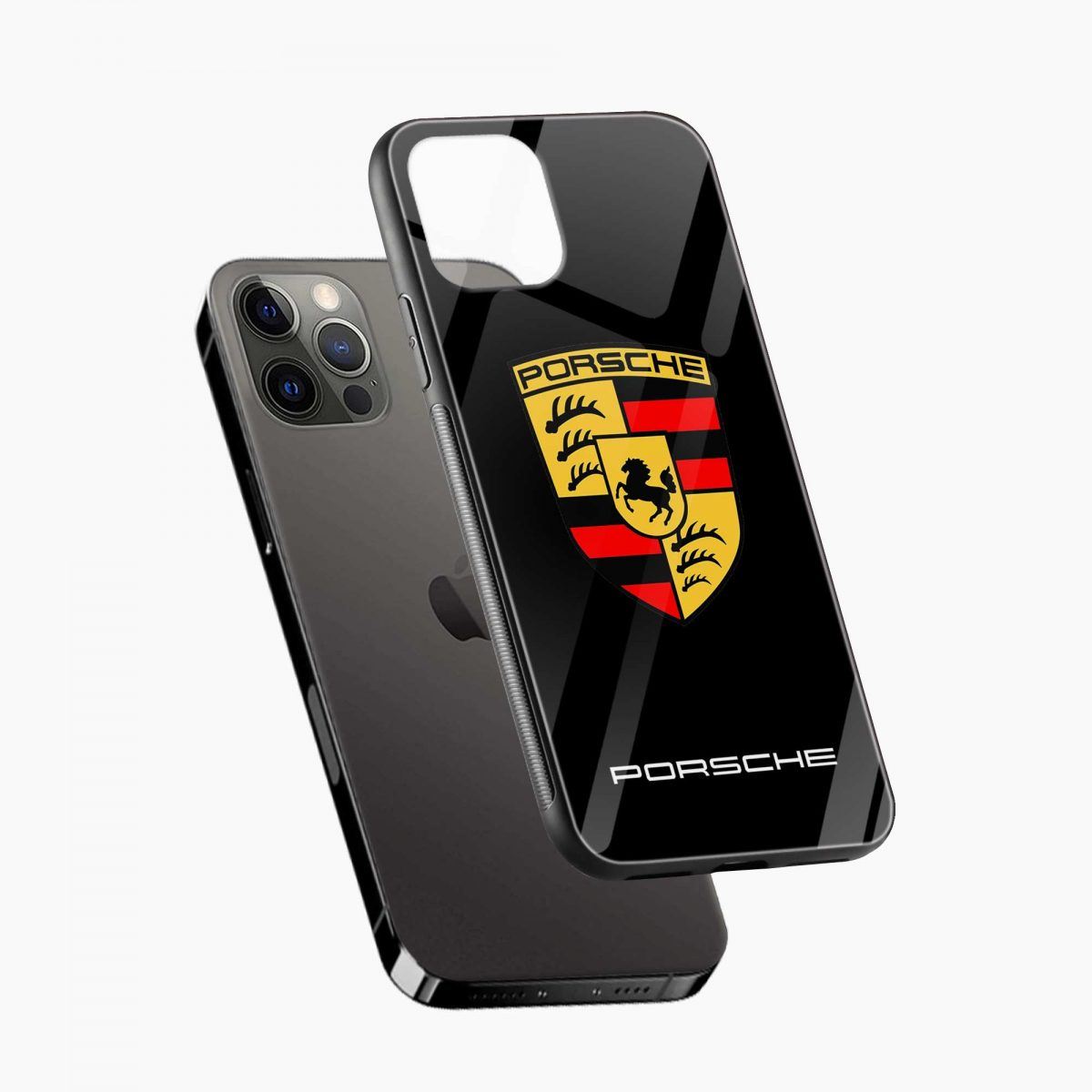 prosche iphone pro back cover diagonal view