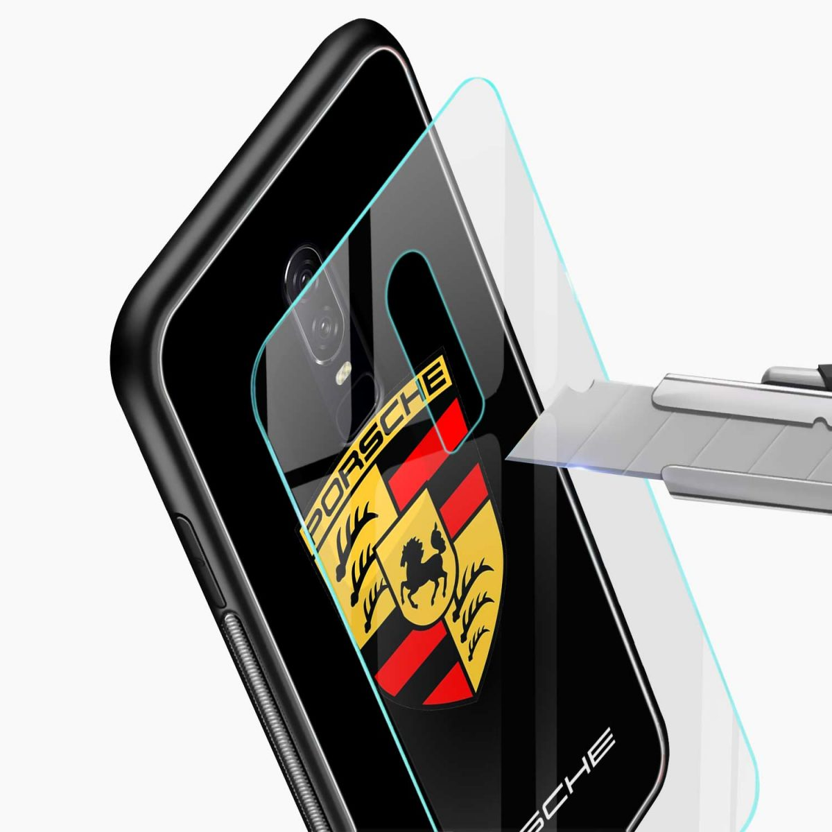 prosche glass view oneplus 6 back cover