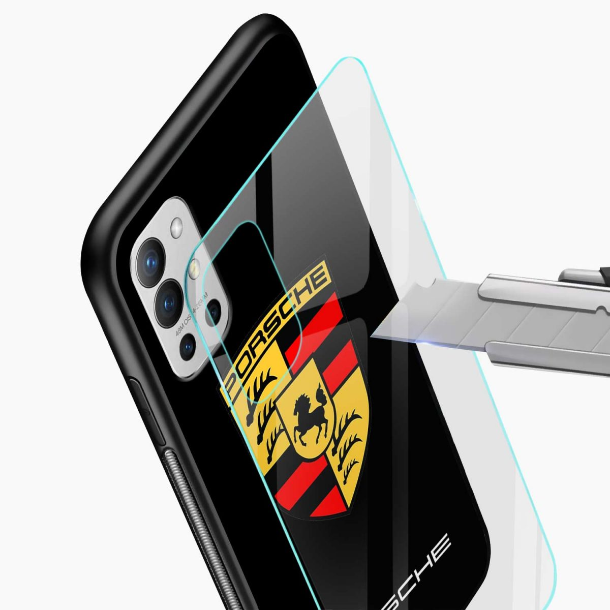 prosche glass view oneplus 9r back cover