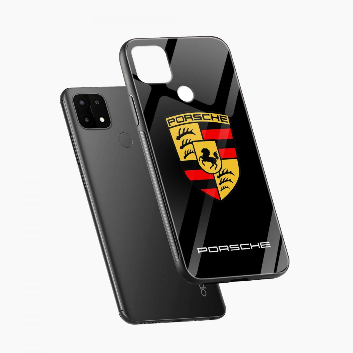 prosche diagonal view oppo a15 back cover