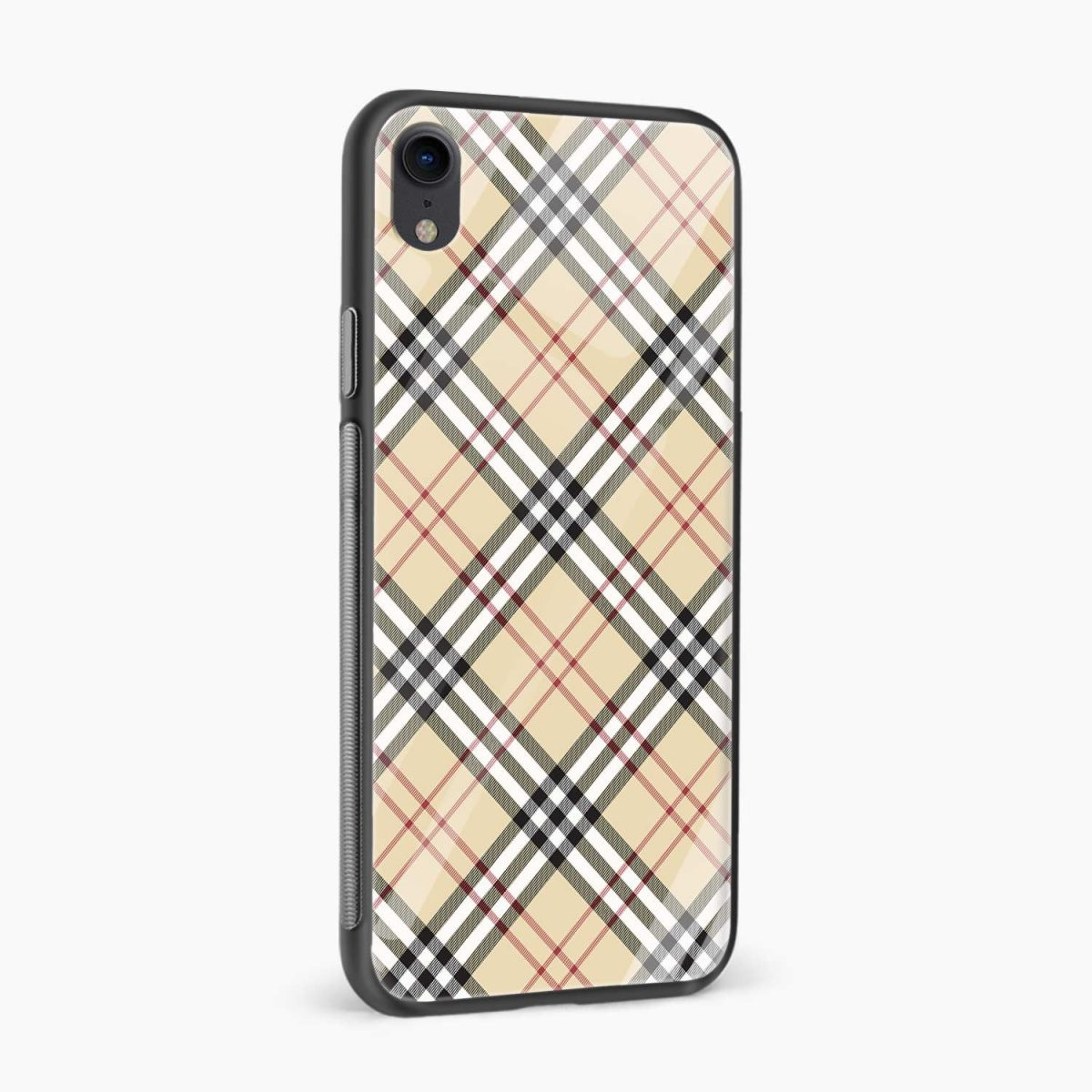 cross line pattern apple iphone xr back cover side view