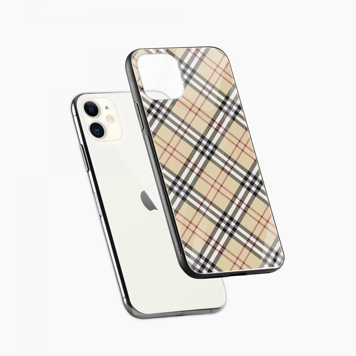 cross line pattern iphone back cover diagonal view