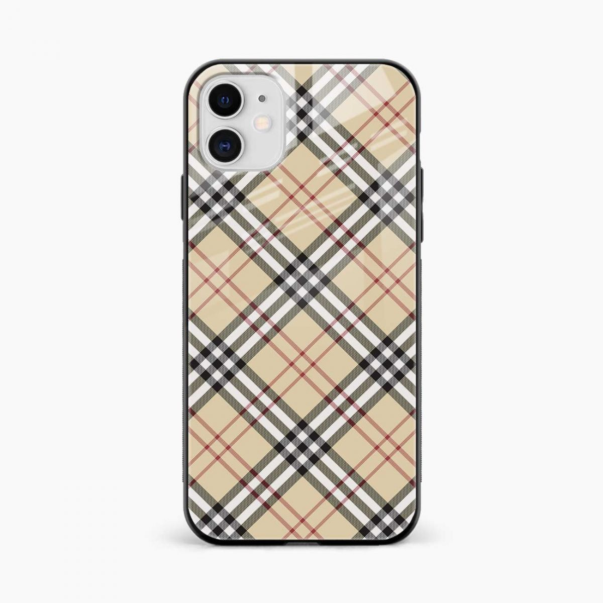 cross line pattern iphone back cover front view