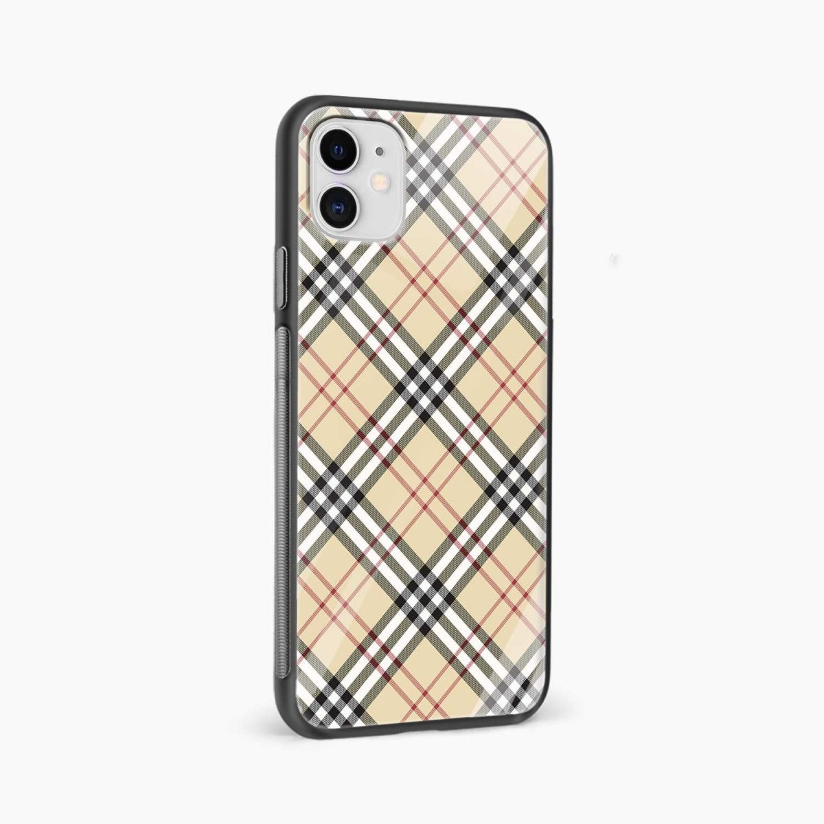 cross line pattern iphone back cover side view