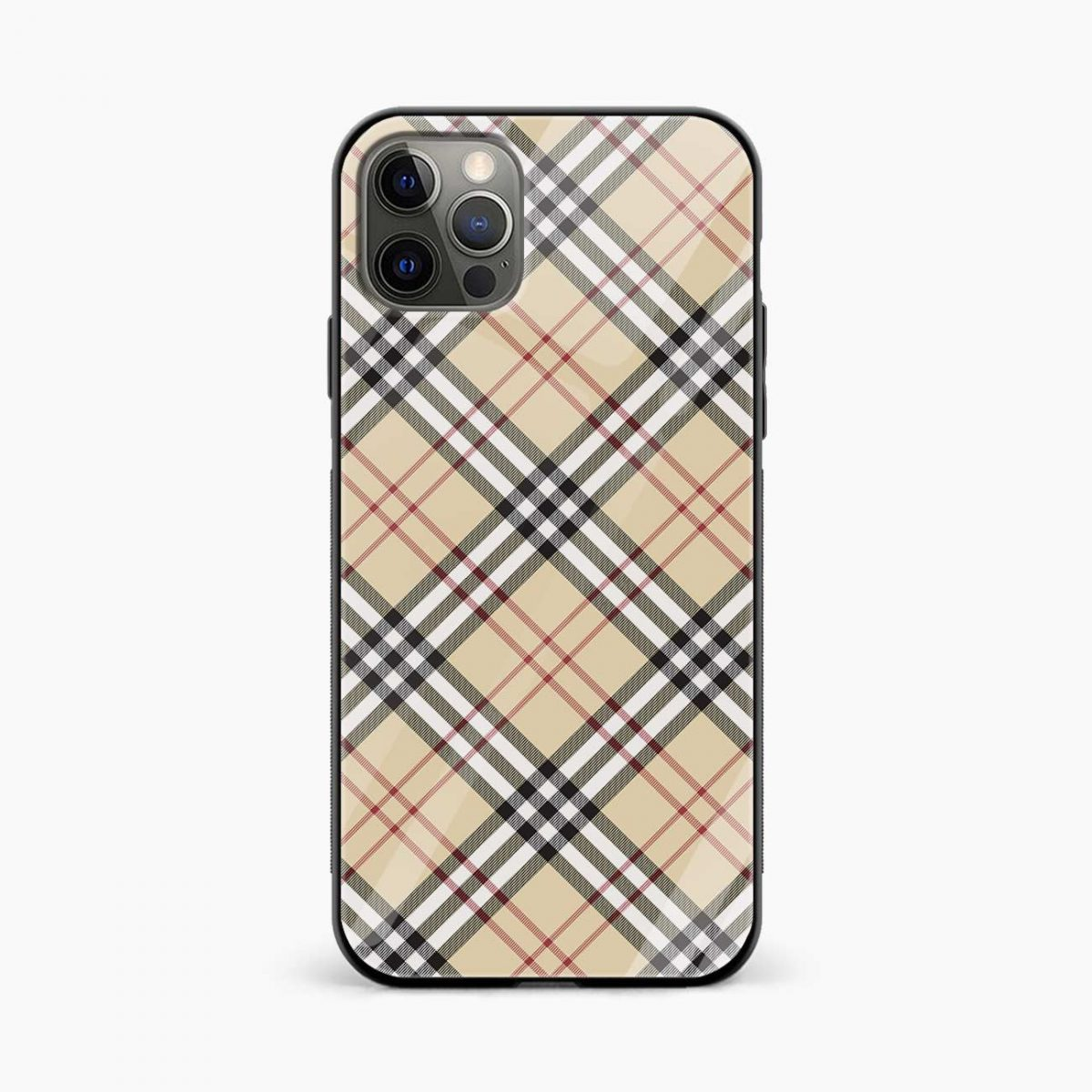 cross line pattern iphone pro back cover front view
