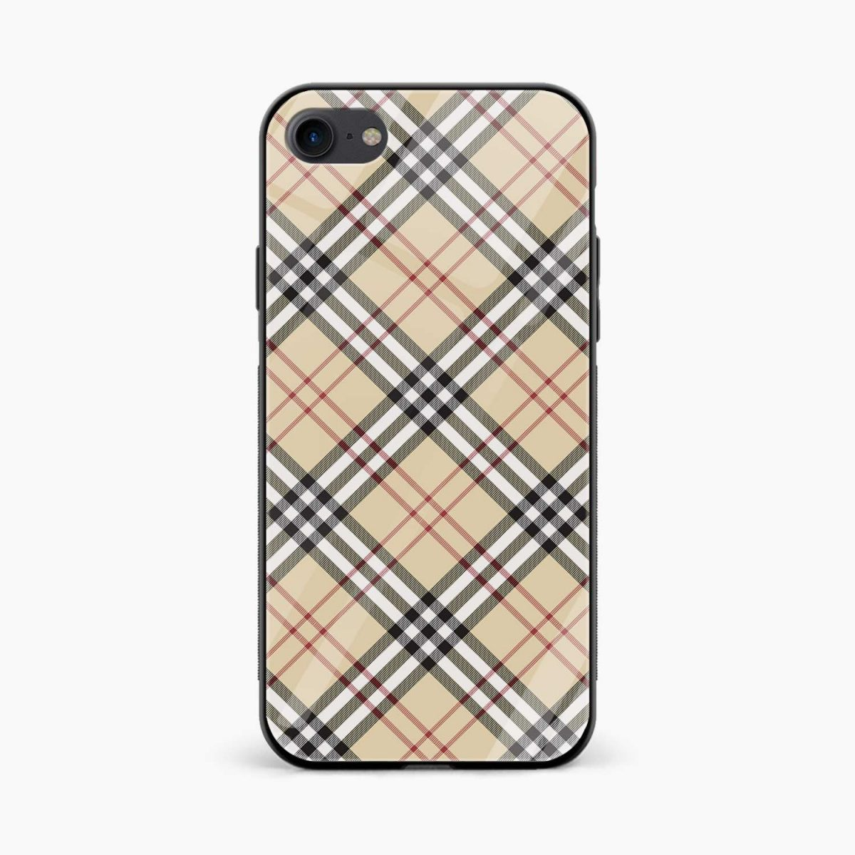 cross line pattern front view apple iphone 6 7 8 se back cover