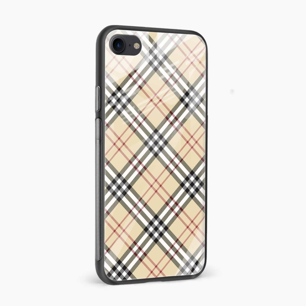 cross line pattern side view apple iphone 6 7 8 se back cover