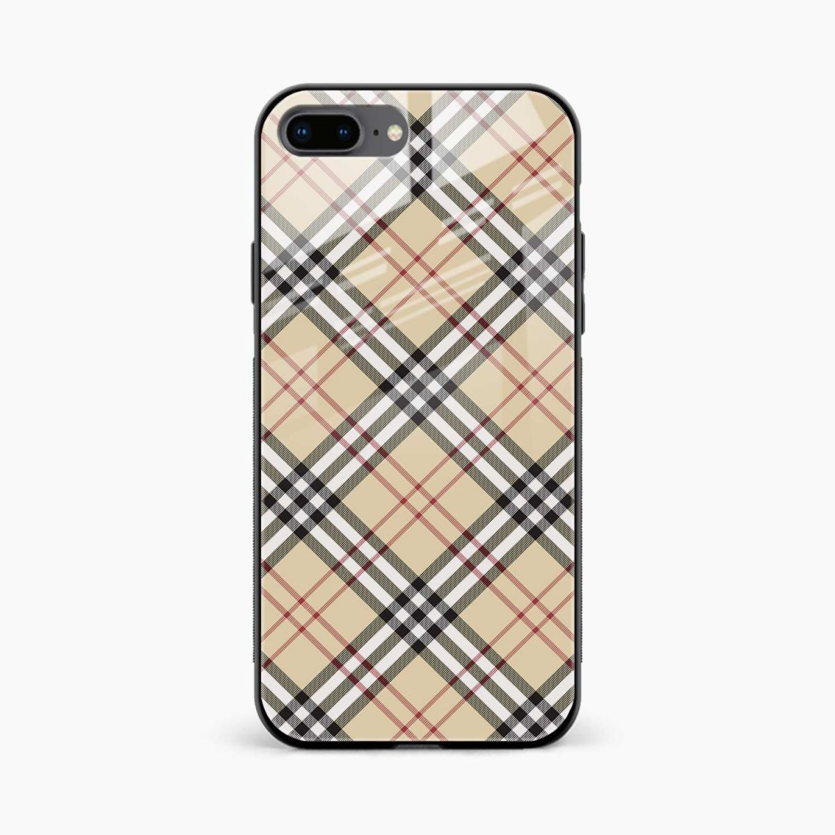 cross line pattern front view apple iphone 7 8 plus back cover