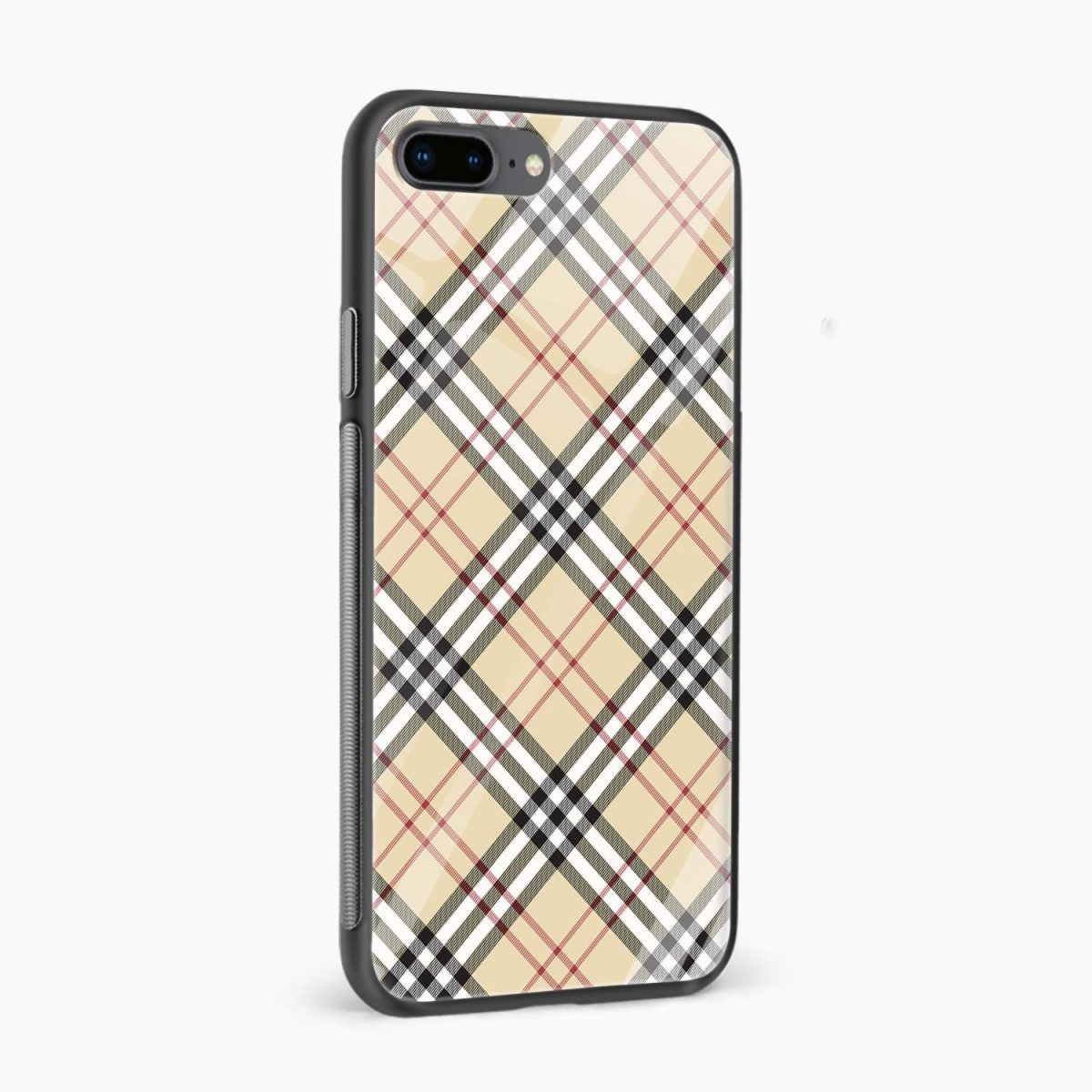cross line pattern side view apple iphone 7 8 plus back cover