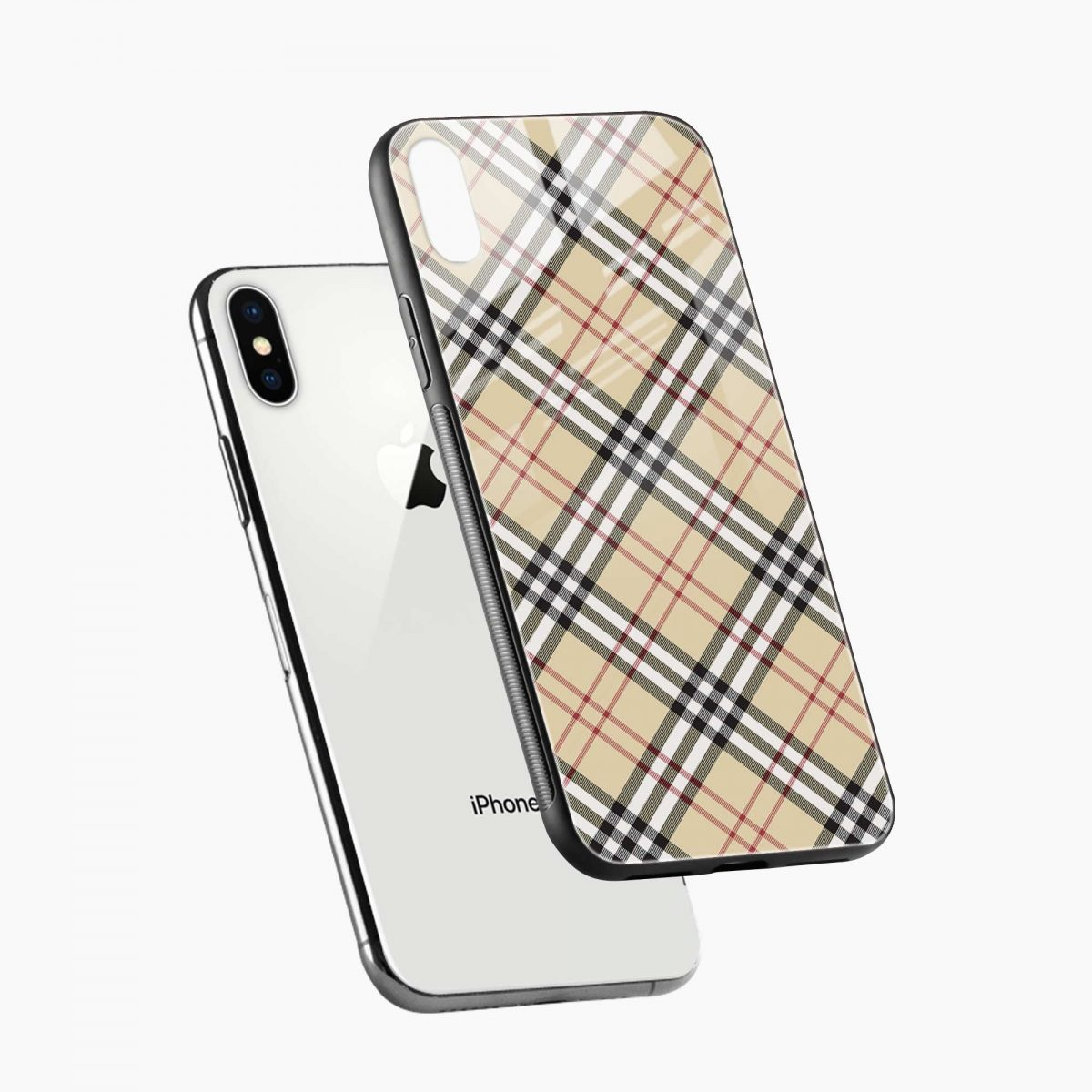 cross line pattern diagonal view apple iphone x xs max back cover