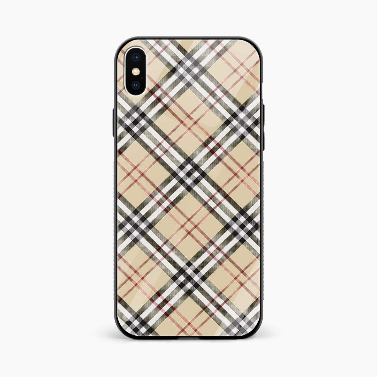 cross line pattern front view apple iphone x xs max back cover