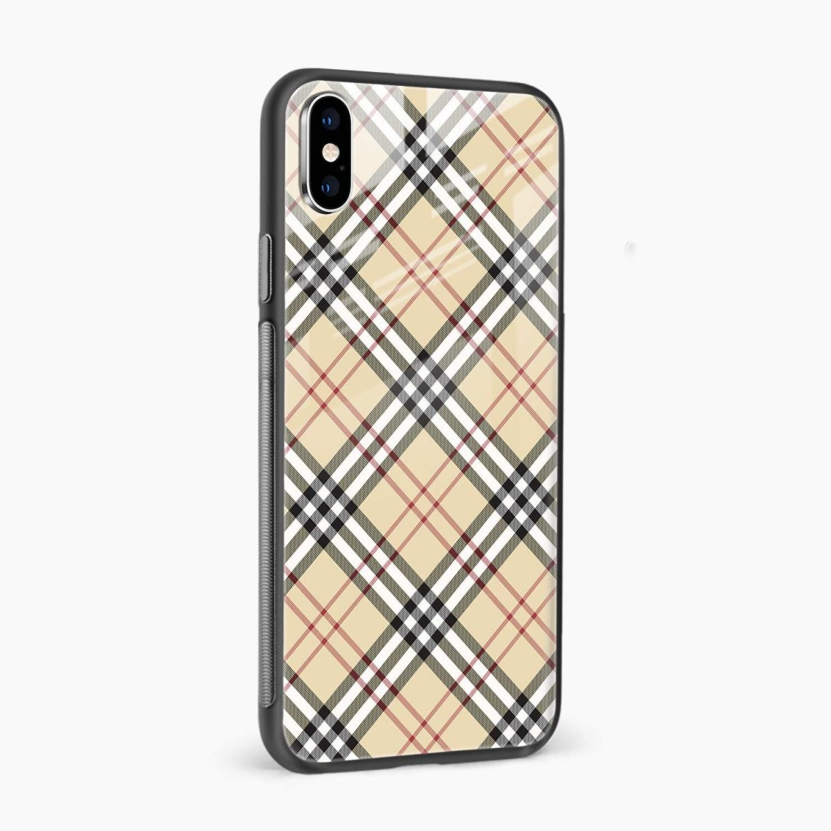 cross line pattern side view apple iphone x xs max back cover