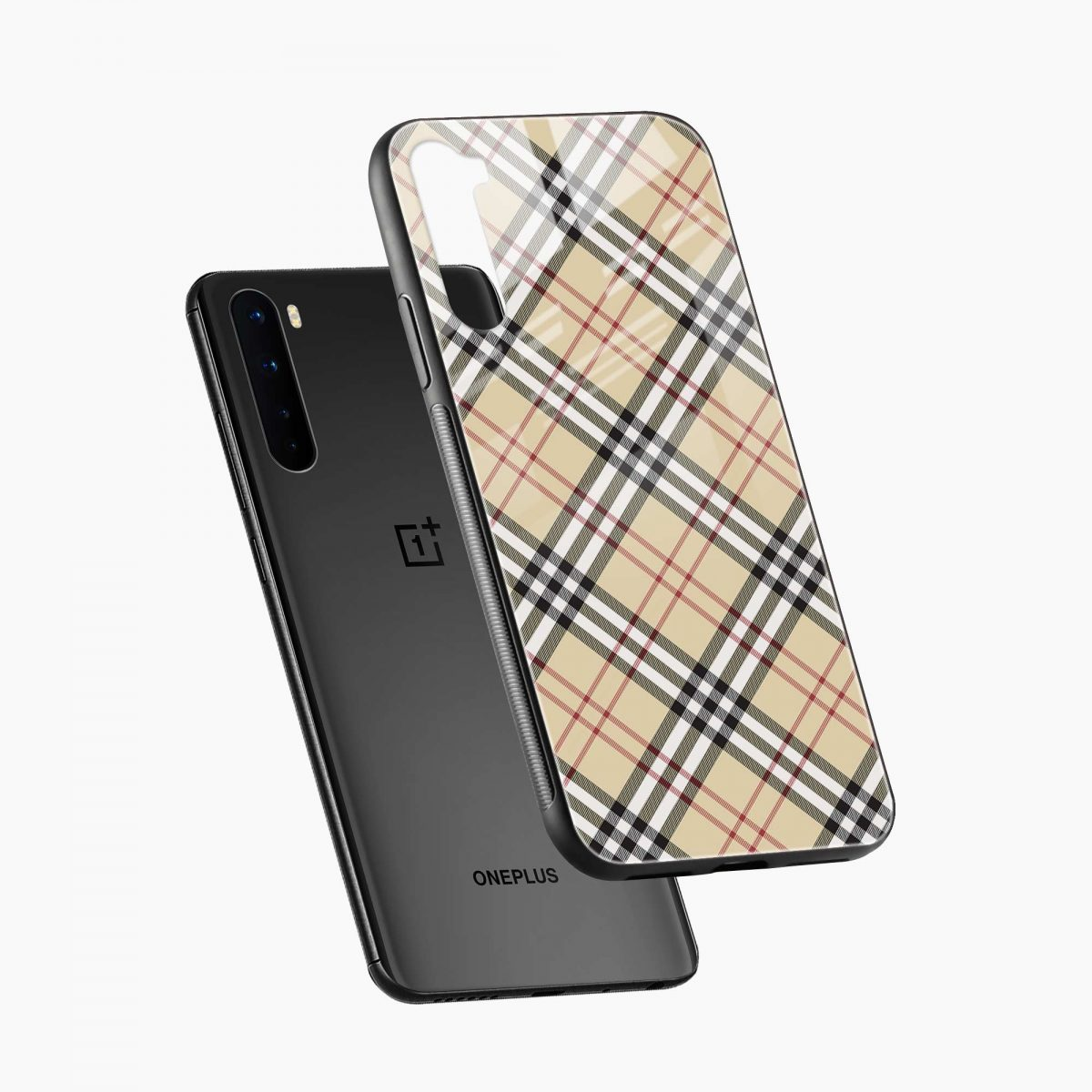 cross line pattern diagonal view oneplus nord back cover