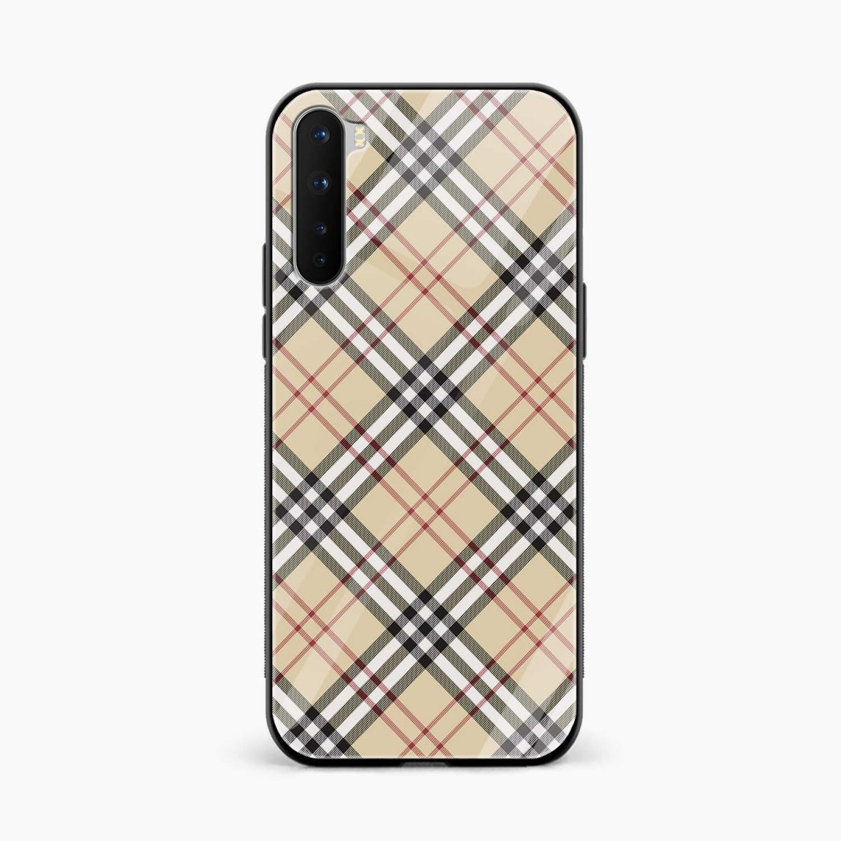 cross line pattern front view oneplus nord back cover