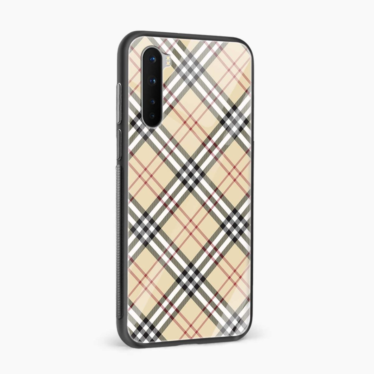 cross line pattern side view oneplus nord back cover