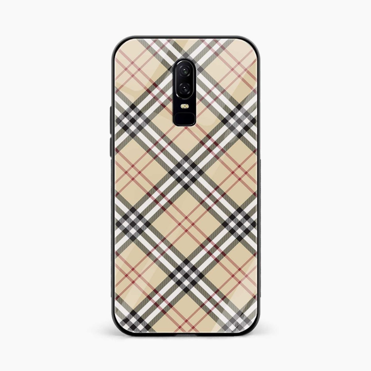 cross line pattern front view oneplus 6 back cover Copy