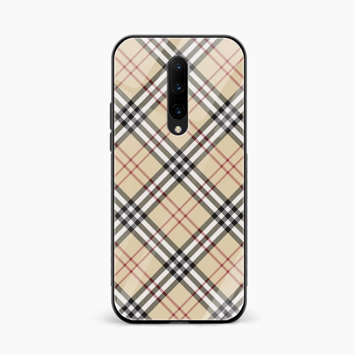 cross line pattern front view oneplus 7 pro back cover