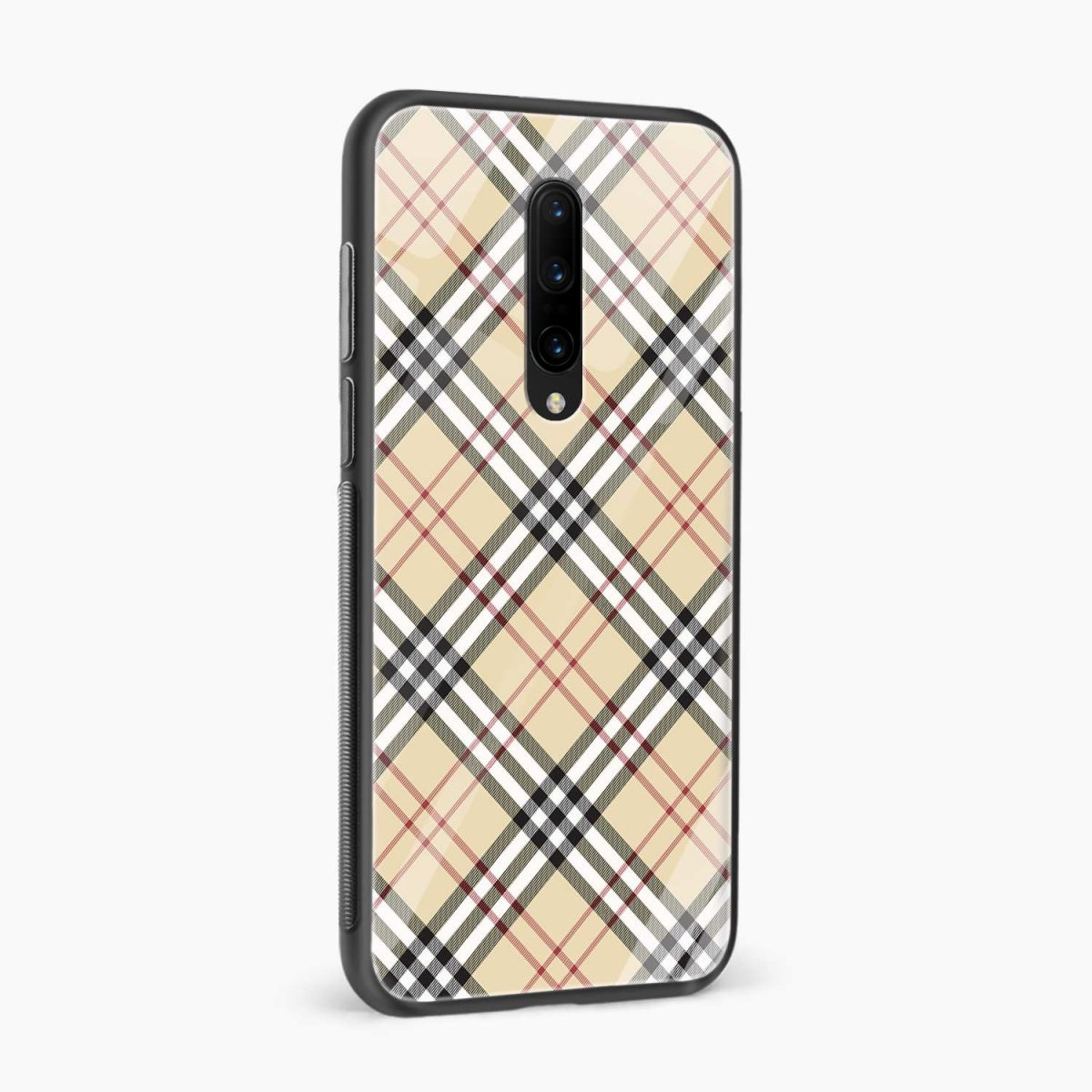cross line pattern side view oneplus 7 pro back cover