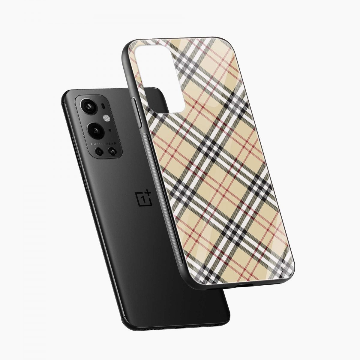 cross line pattern diagonal view oneplus 9 pro back cover