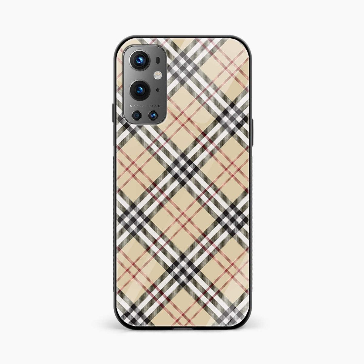 cross line pattern front view oneplus 9 pro back cover