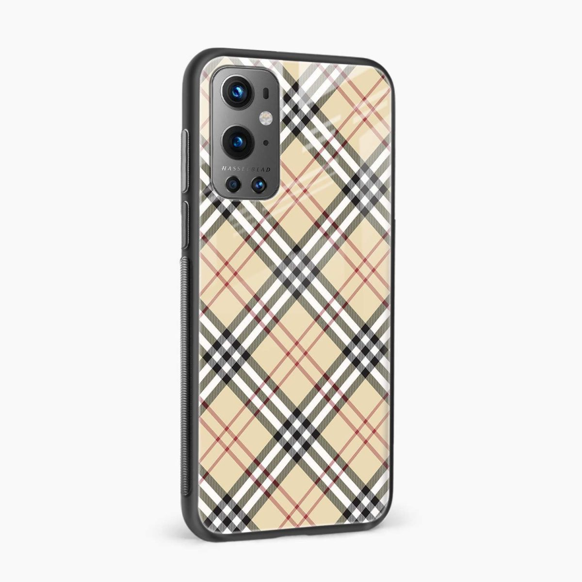 cross line pattern side view oneplus 9 pro back cover