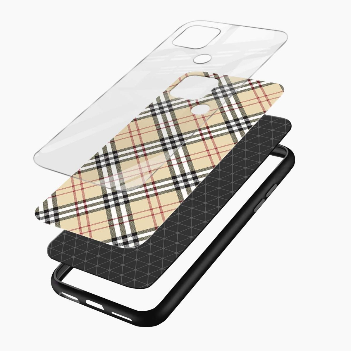cross line pattern layers view oppo a15 back cover