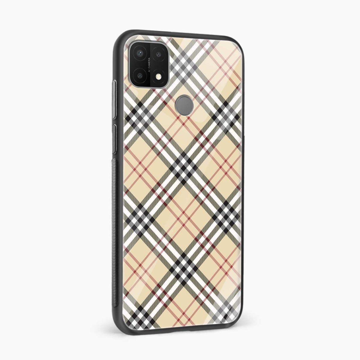 cross line pattern side view oppo a15 back cover
