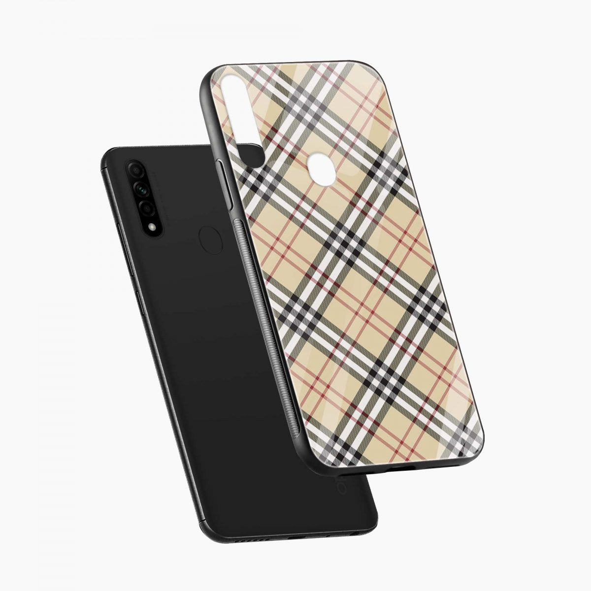 cross line pattern diagonal view oppo a31 back cover