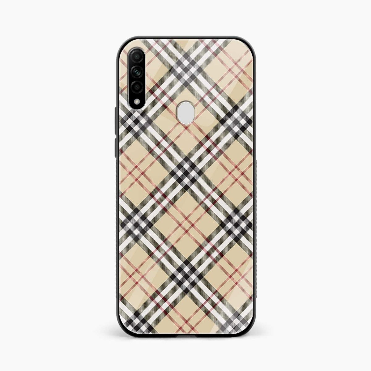 cross line pattern front view oppo a31 back cover