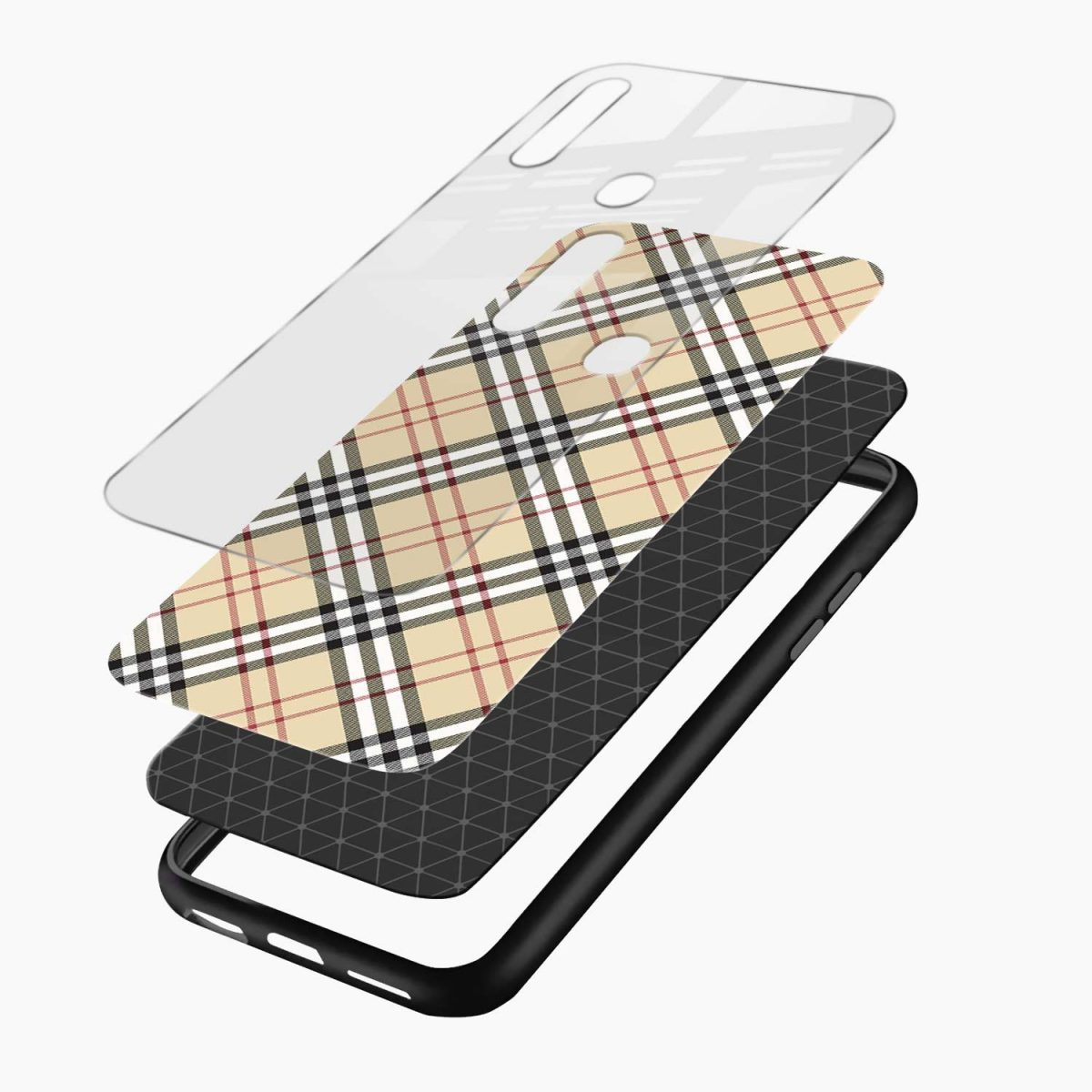 cross line pattern layers view oppo a31 back cover
