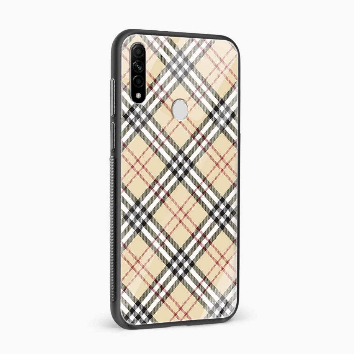 cross line pattern side view oppo a31 back cover