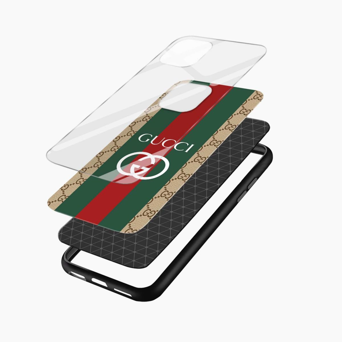 gucci strips pattern iphone back cover layers view