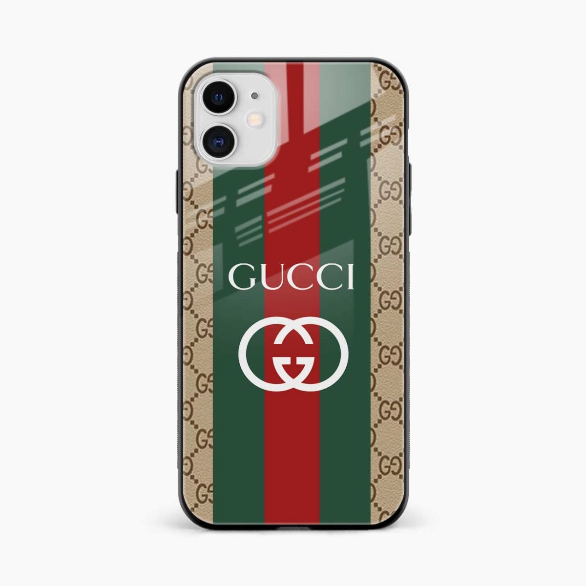 gucci strips pattern iphone back cover front view
