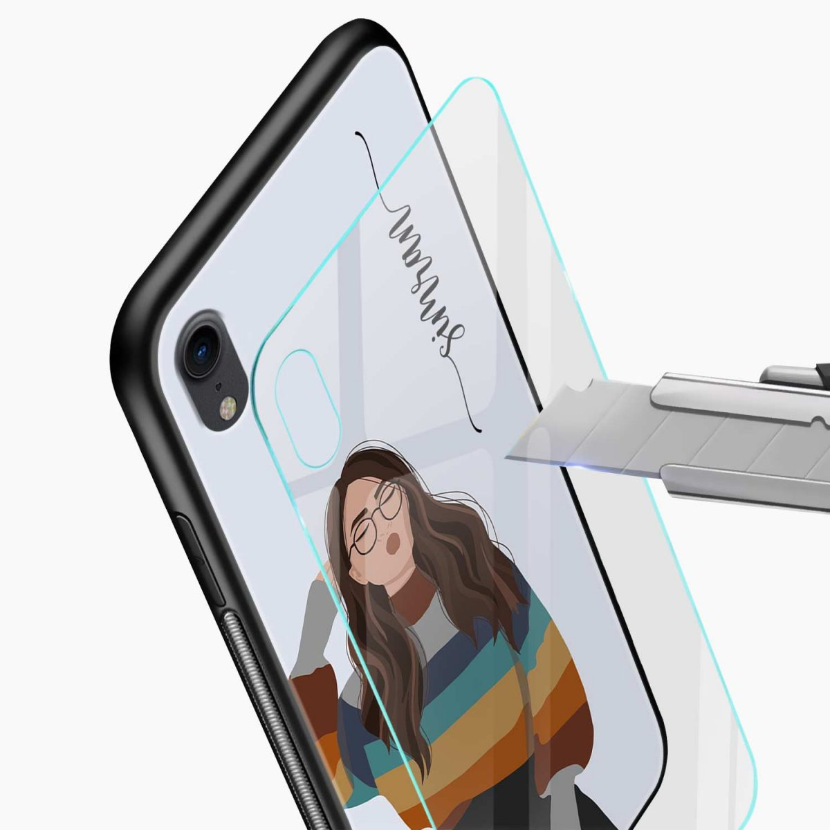its me apple iphone xr back cover glass view