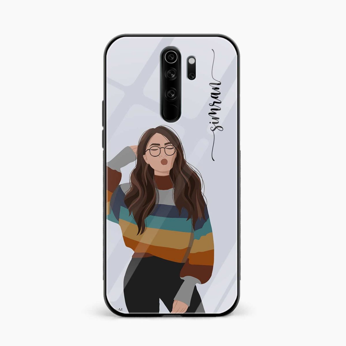 its me redmi note 8 pro back cover front view