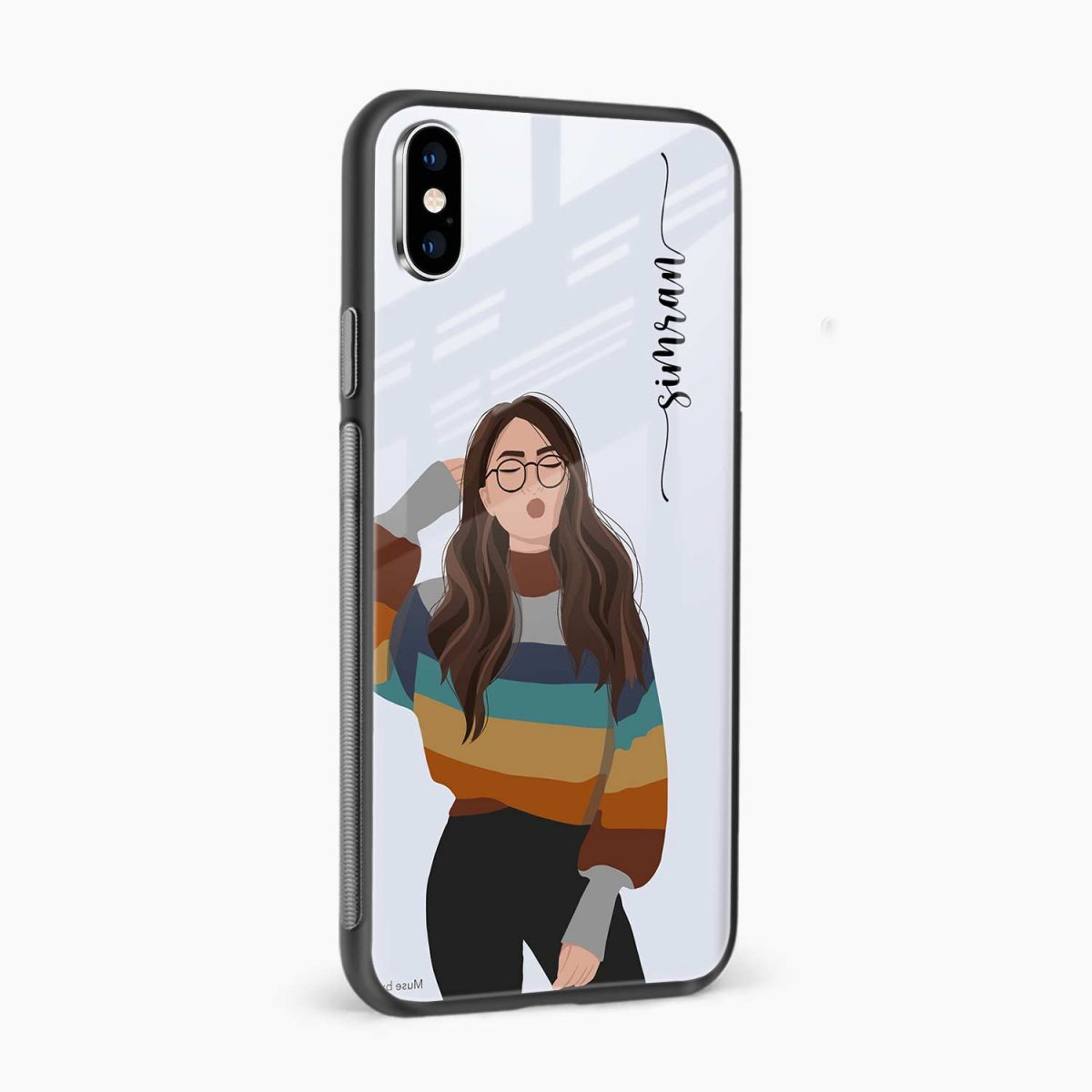its me side view apple iphone x xs max back cover