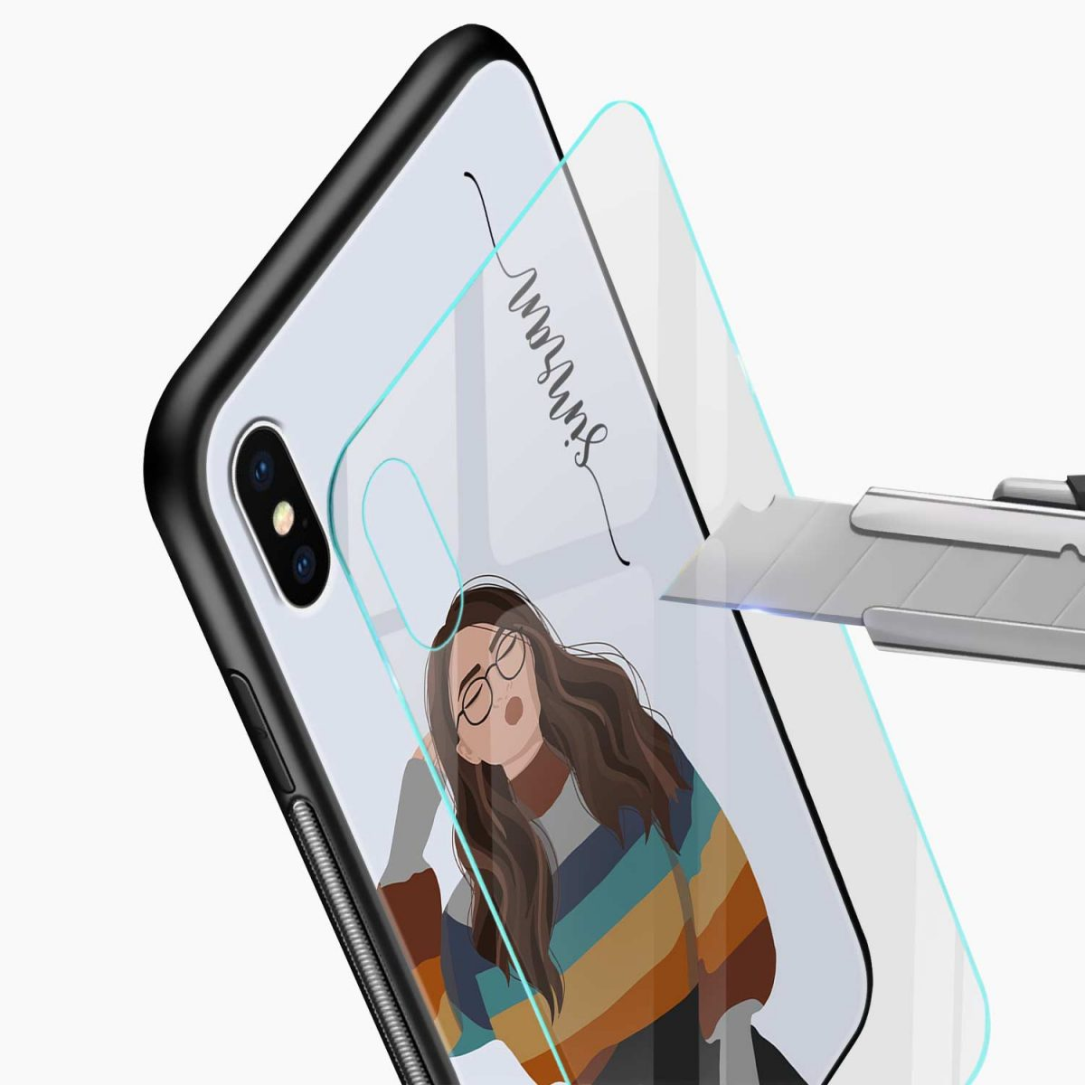 its me glass view apple iphone x xs max back cover
