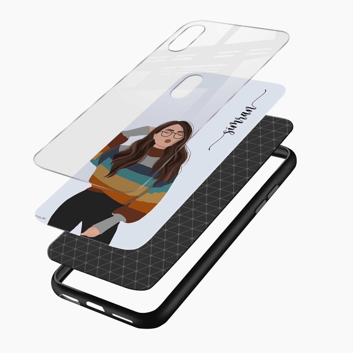 its me layers view apple iphone x xs max back cover