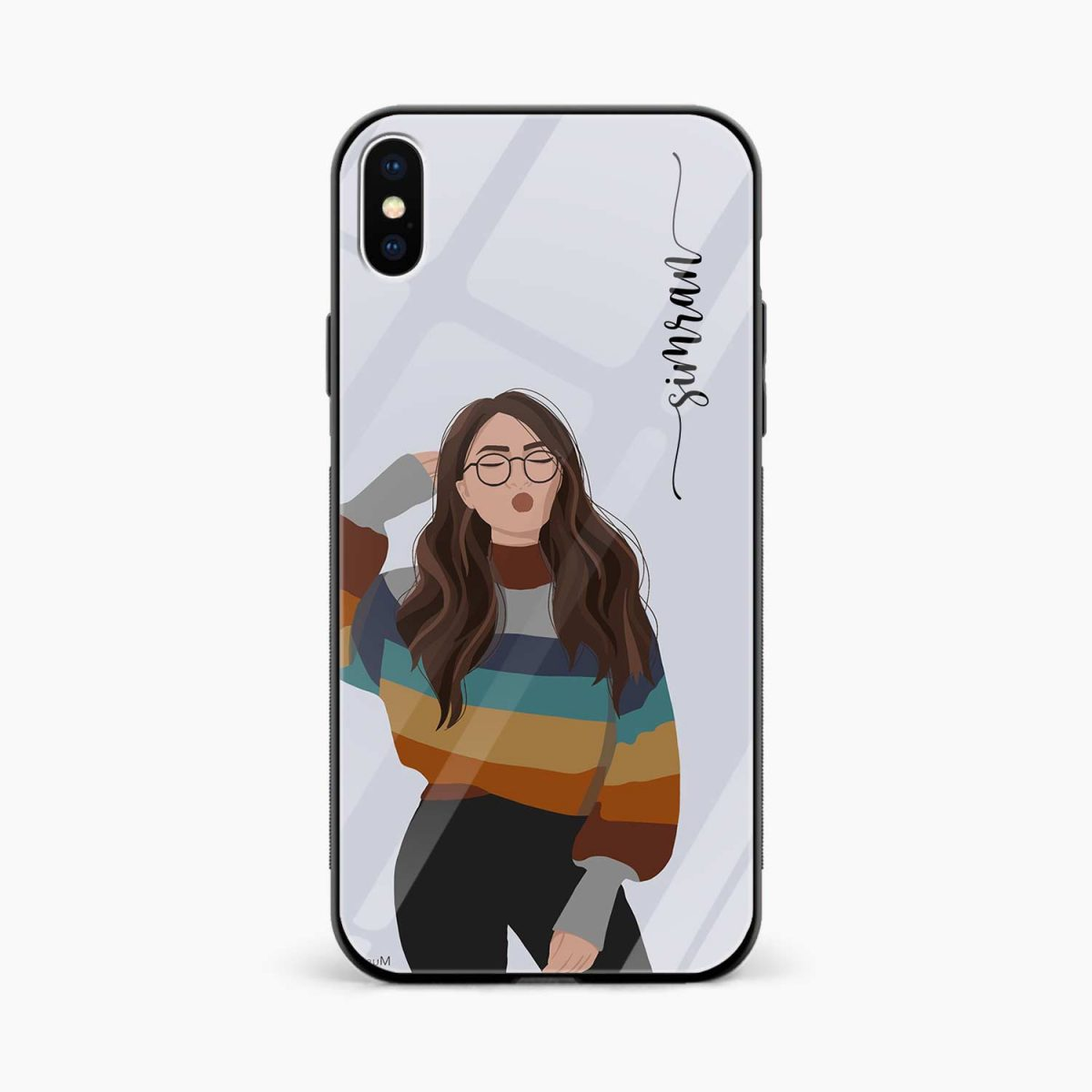 its me front view apple iphone x xs max back cover