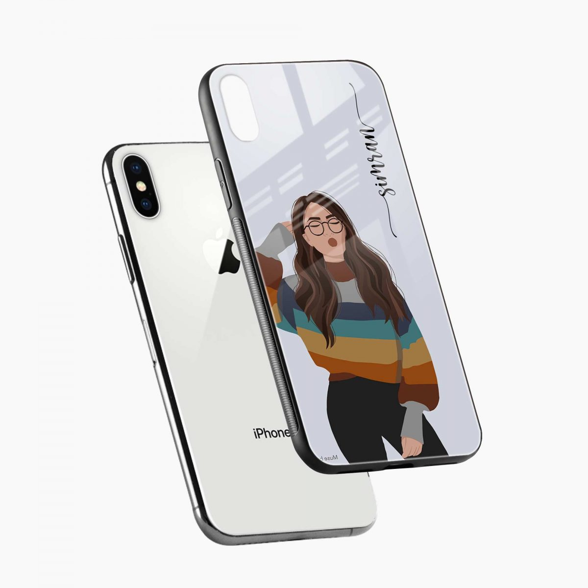its me diagonal view apple iphone x xs max back cover