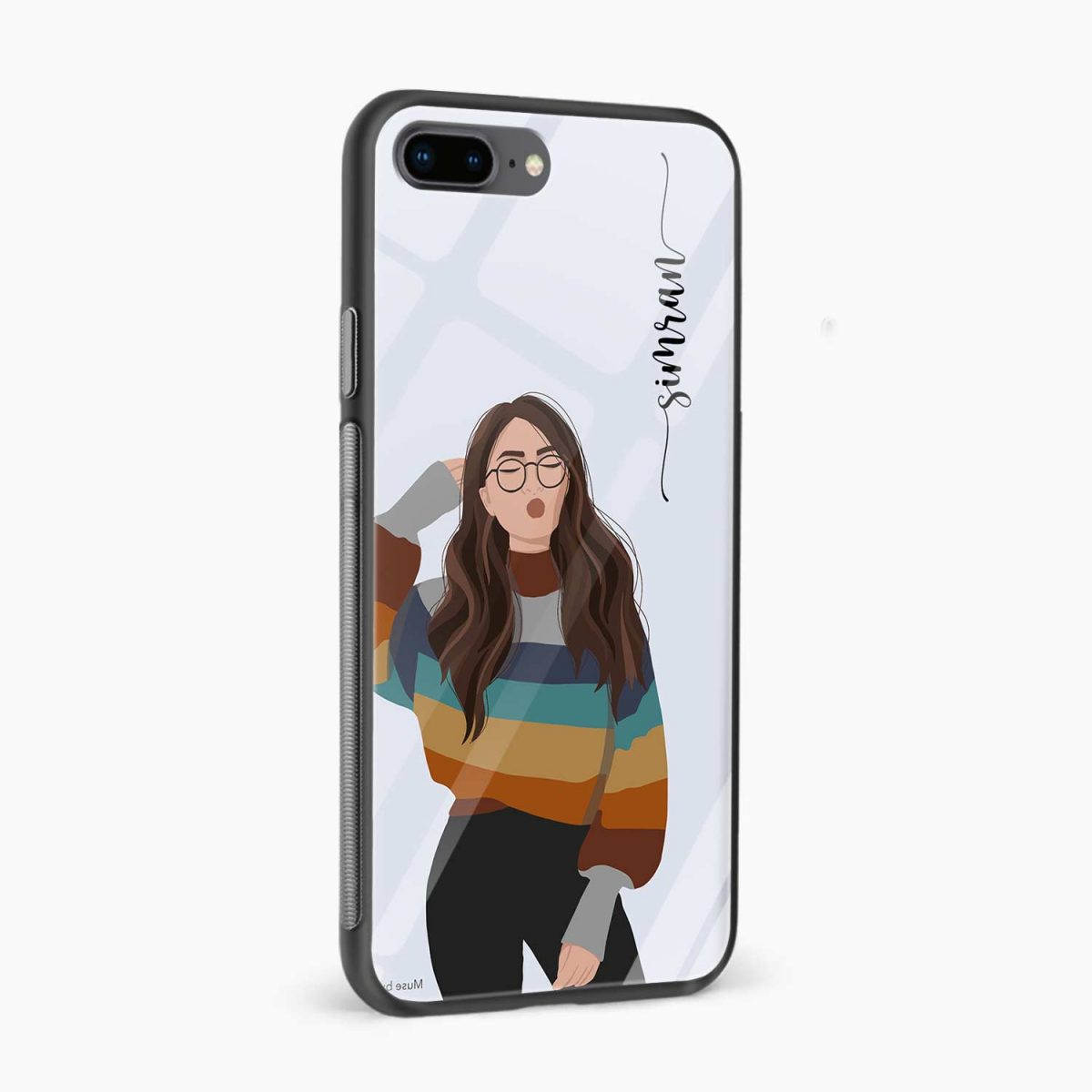 its me side view apple iphone 7 8 plus back cover