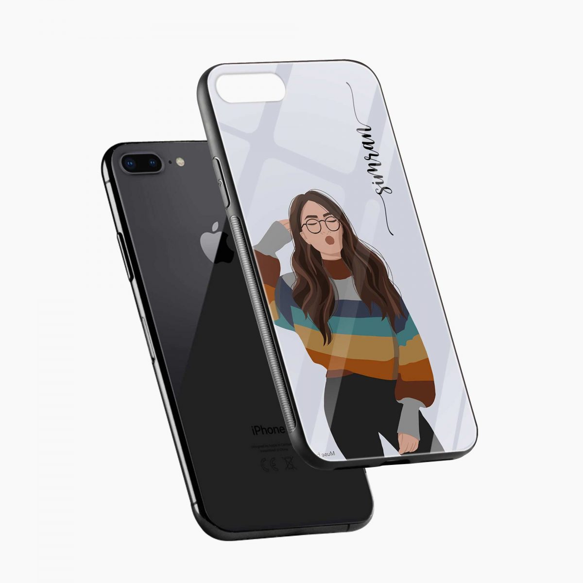 its me diagonal view apple iphone 7 8 plus back cover