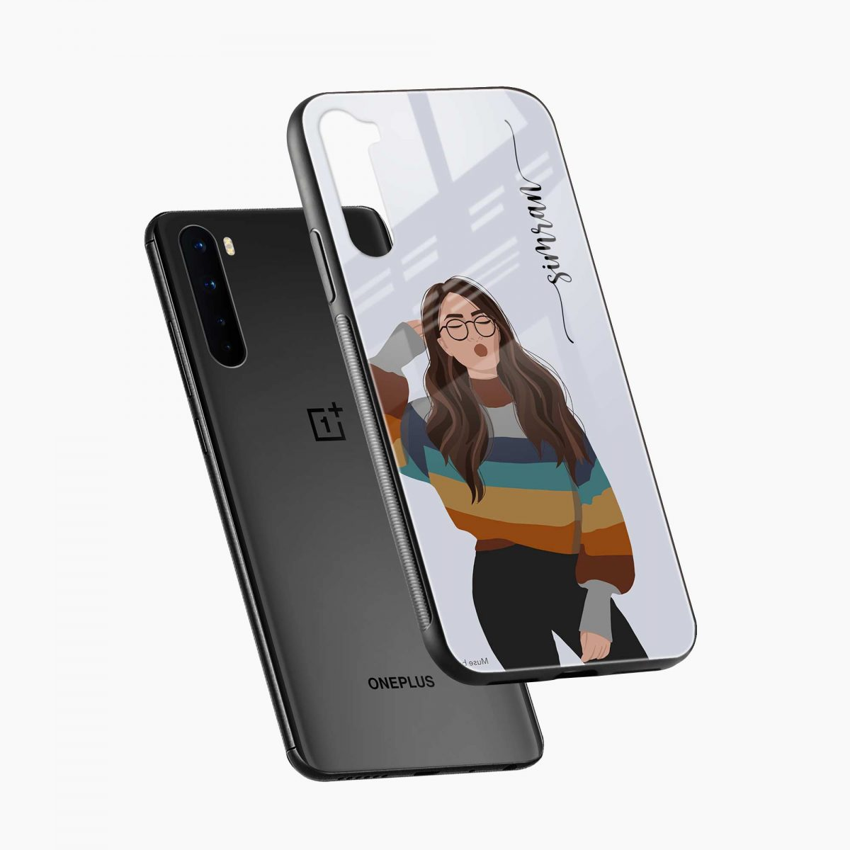 its me diagonal view oneplus nord back cover
