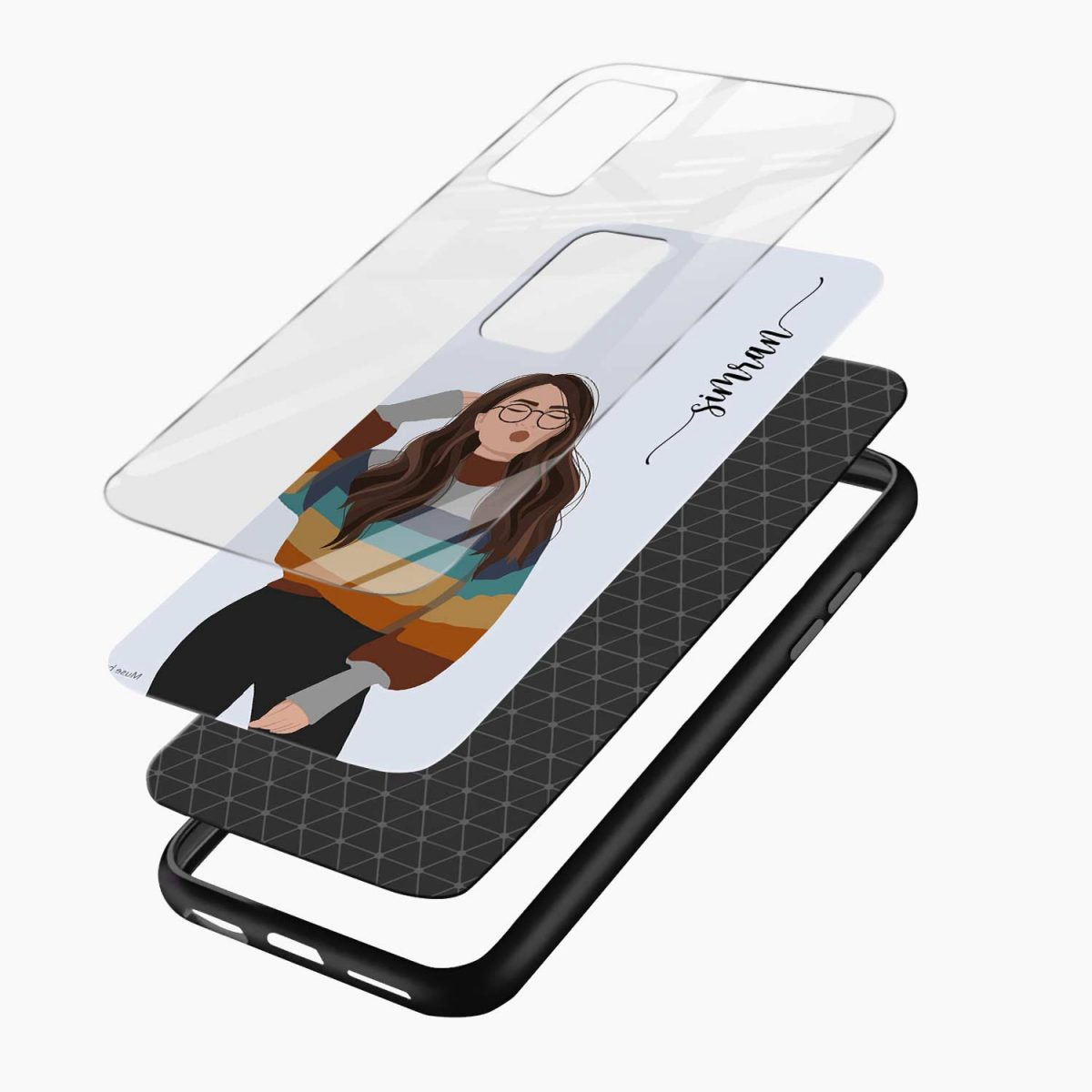 its me layers view oneplus 9r back cover