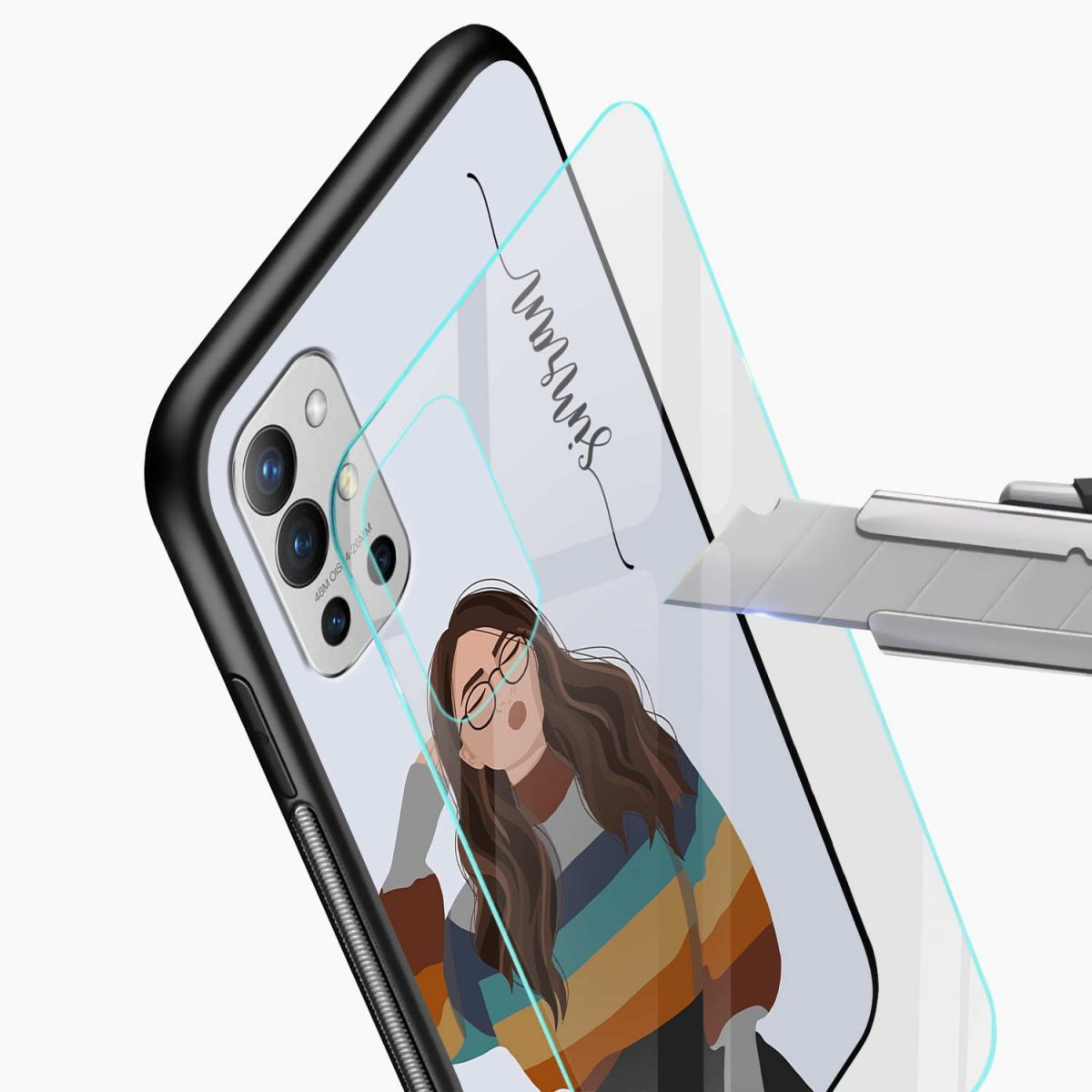 its me glass view oneplus 9r back cover
