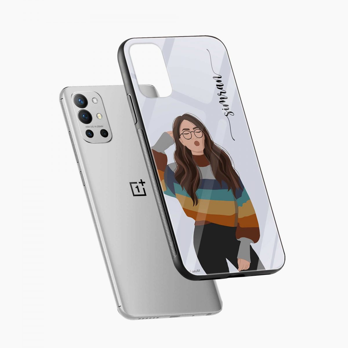 its me diagonal view oneplus 9r back cover