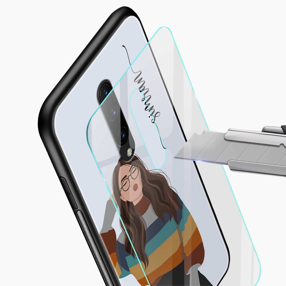 its me glass view oneplus 7 pro back cover